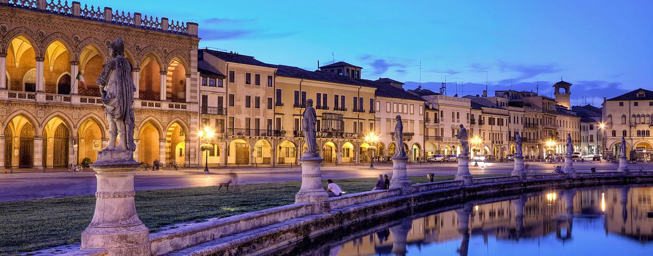 In de buurt van de stad Padua