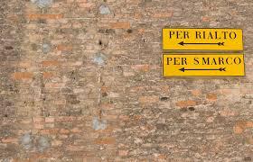 Cartello calli - Venezia