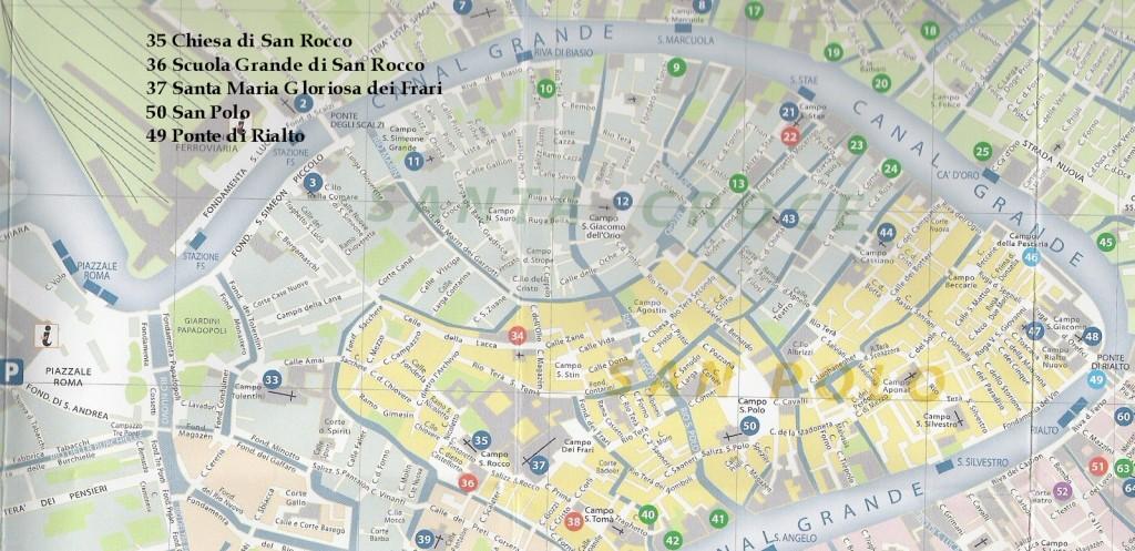 Cartina Roma Turistica.Mappa Piazzale Roma Rialto Camping Serenissima A Venezia